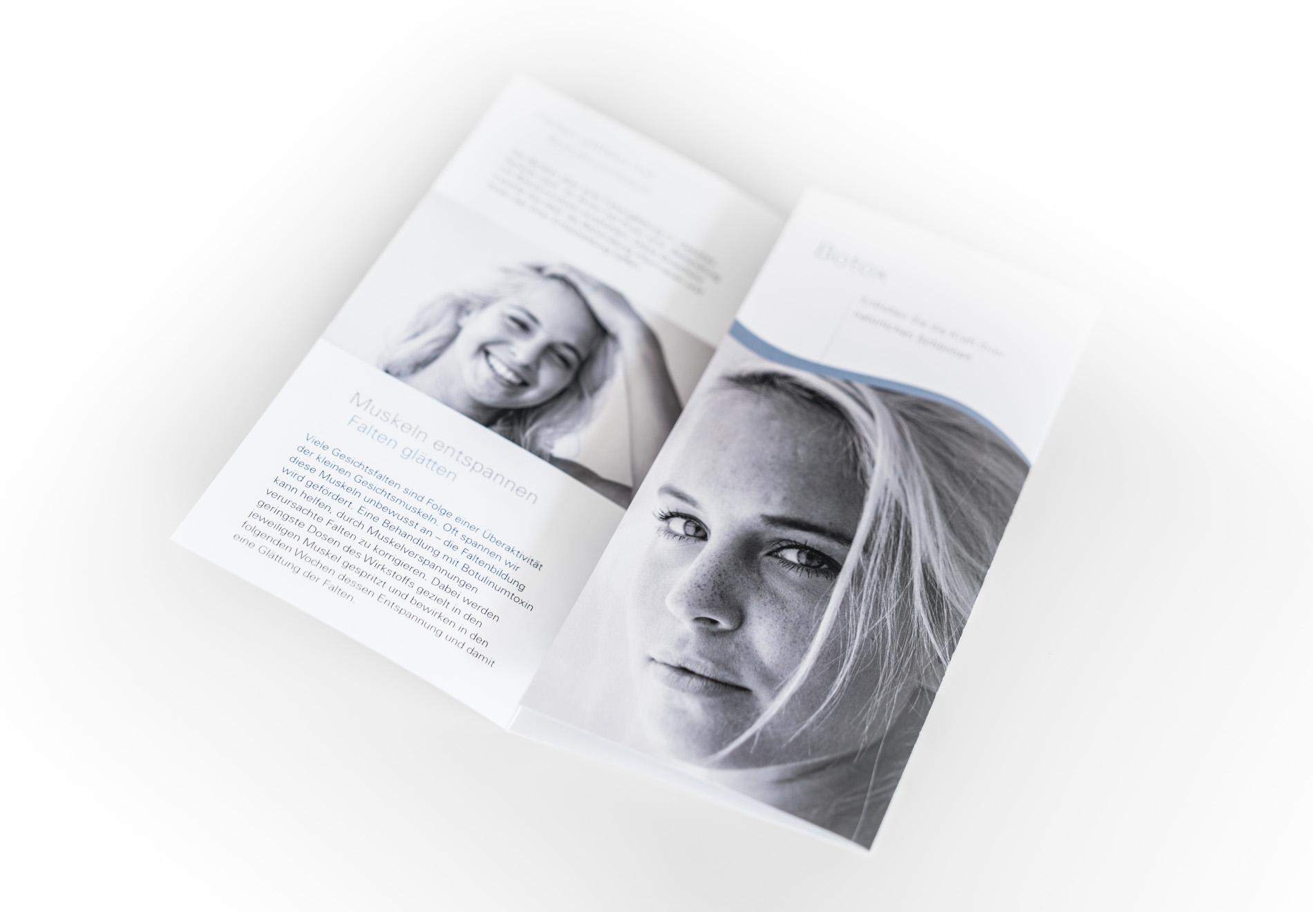 Broschüren Design Cosmodermis Einsiedeln