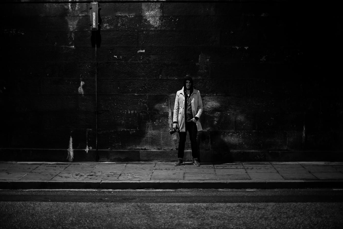 Street Photographer ready for action  Photo: Alan Thomas Duncan Wilkie