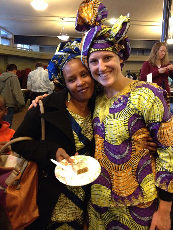 Vestine & Haley at Light of the Nations in traditional Congolese style.