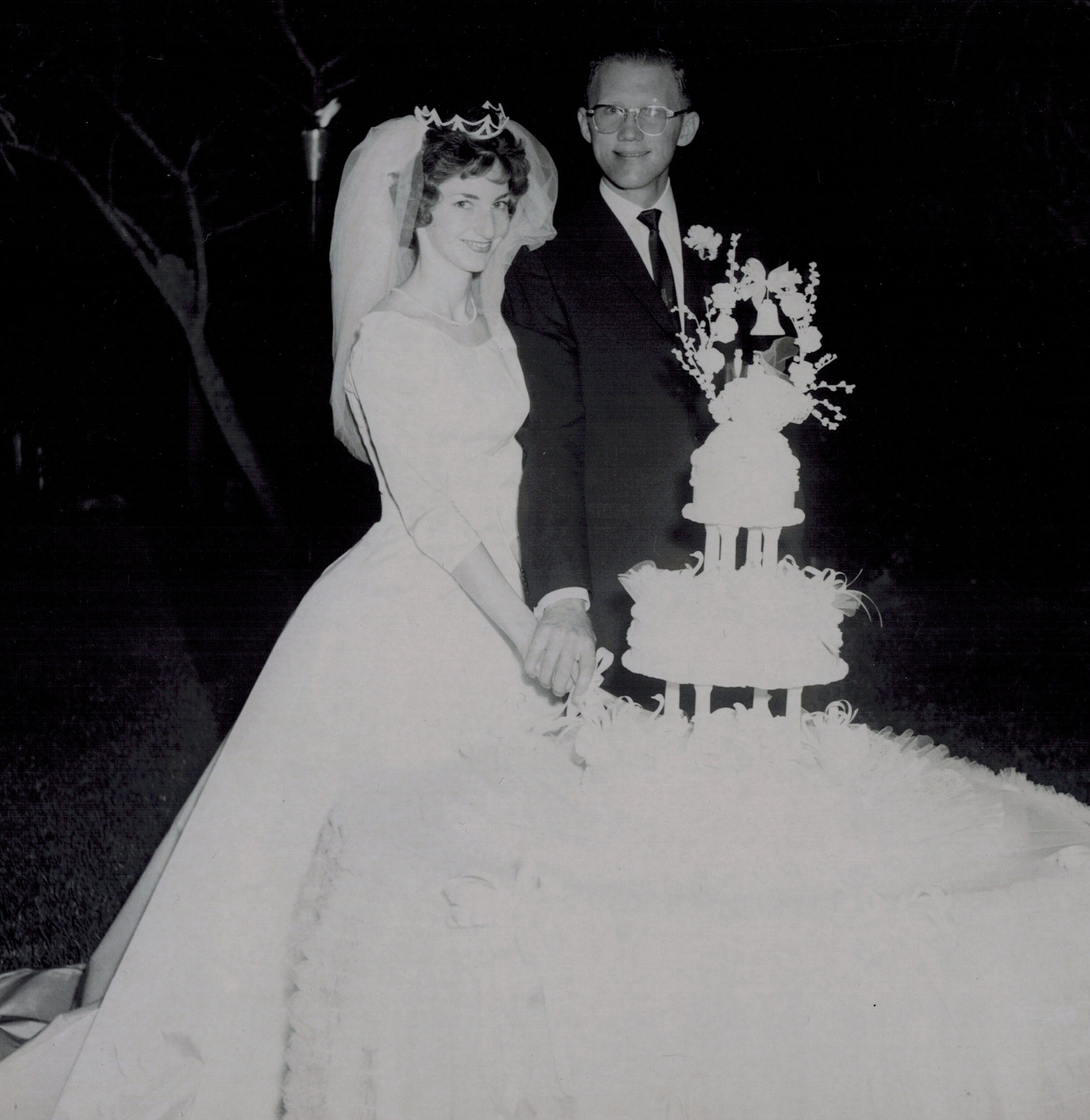 Steve and Sally Johnson on their wedding day, June 8, 1963.