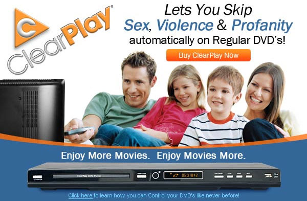 ClearPlay DVD - Enables your family to enjoy movies at home with the objectionable content removed. The player is relatively inexpensive but you are required to pay an annual fee to subscribe to downloadable digital filters.