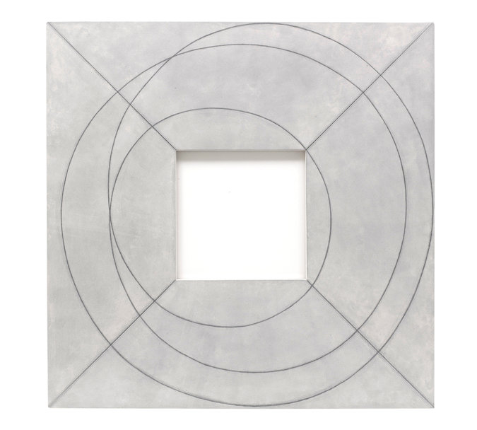 "Robert Mangold's ""Framed Square With Open Center II"" , 2013"
