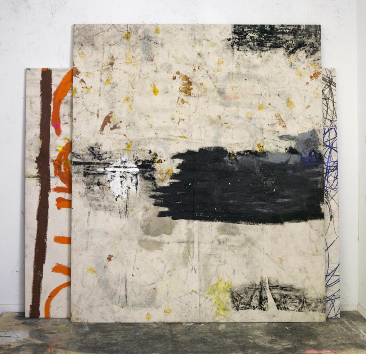 Oscar Murillo, Untitled (stack paintings), 2013