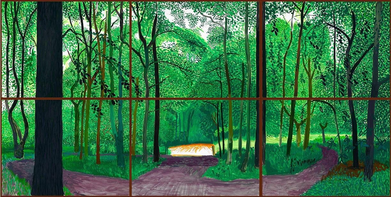 """David Hockney, """" Woldgate Woods, 26, 27 & 30 July 2006"""""""