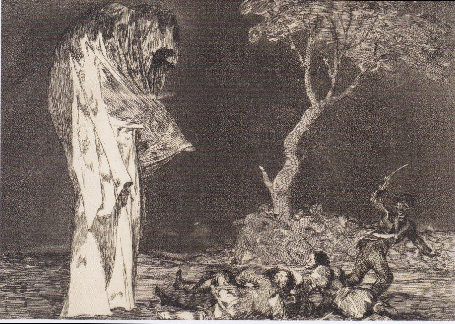 """Francisco Goya, """"Disparate de miedo"""" from Los Caprichos (ca. 1814)"""