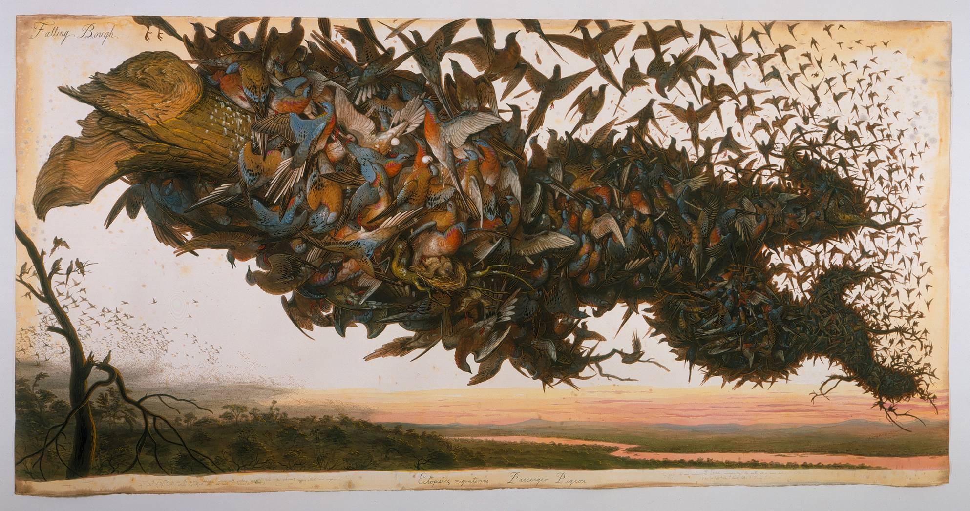 """Walton Ford, """"Falling Bough"""" (2002)"""