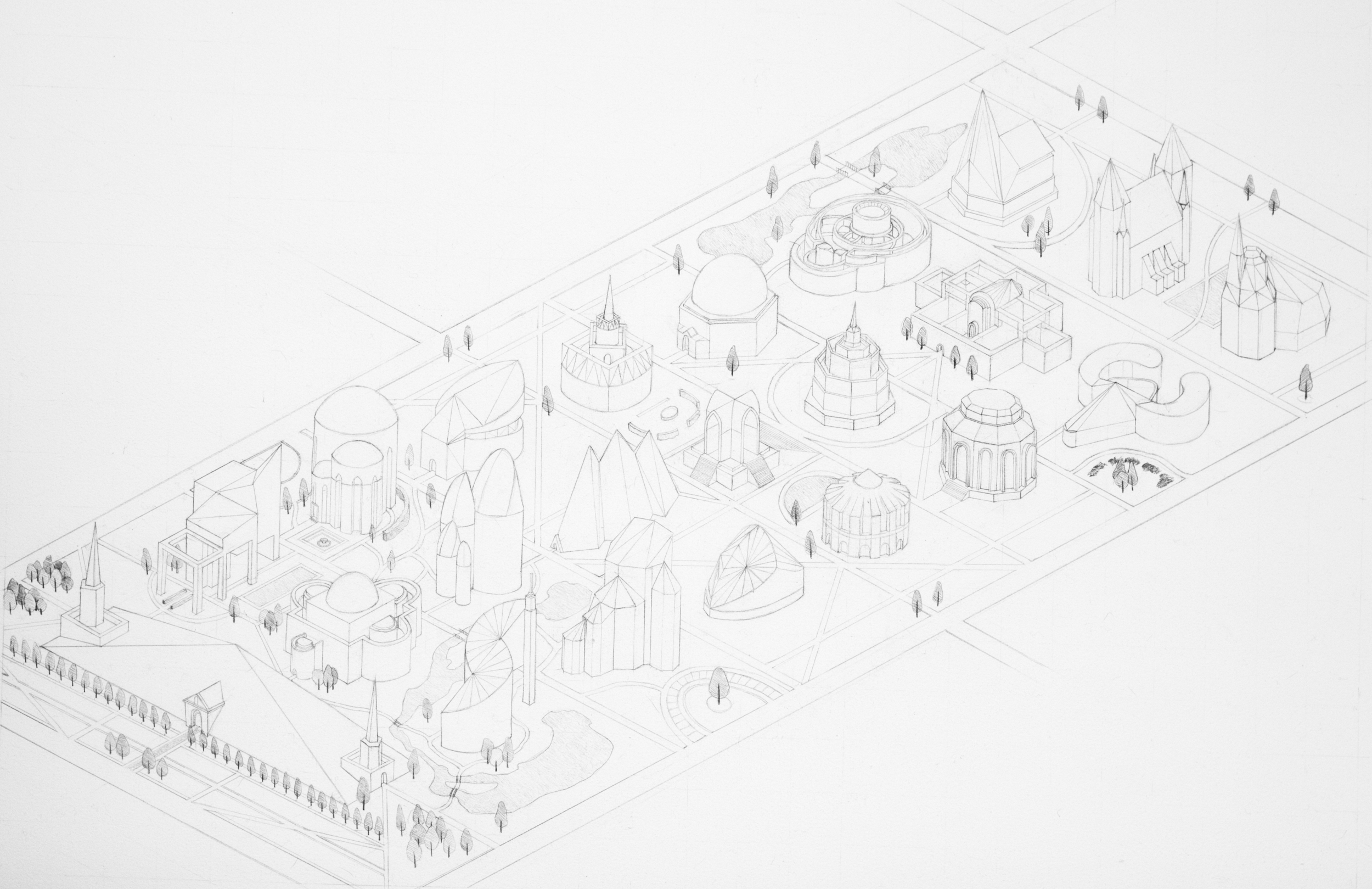 Plan for a utopian plat