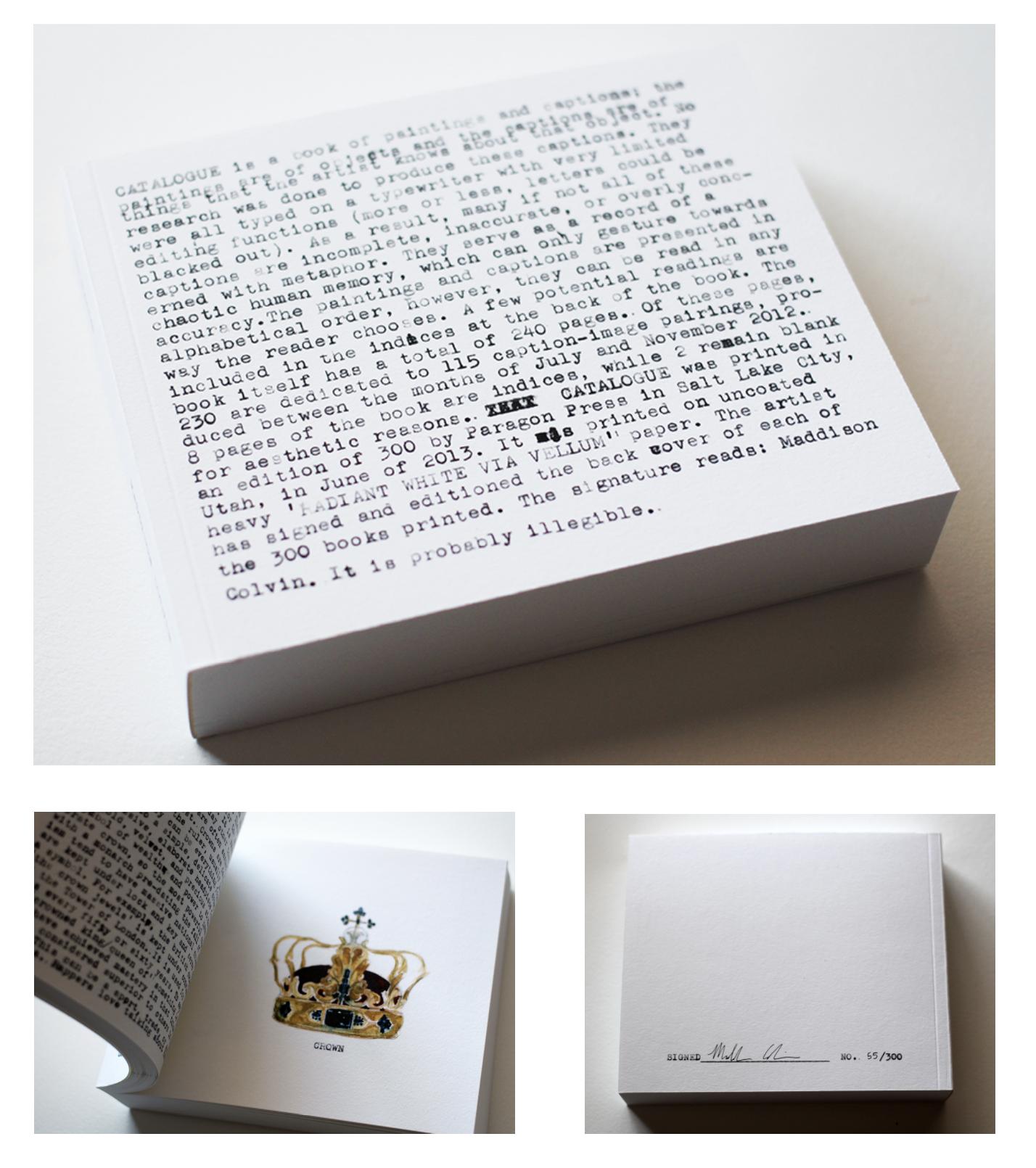 """Catalogue"" self-published art book"