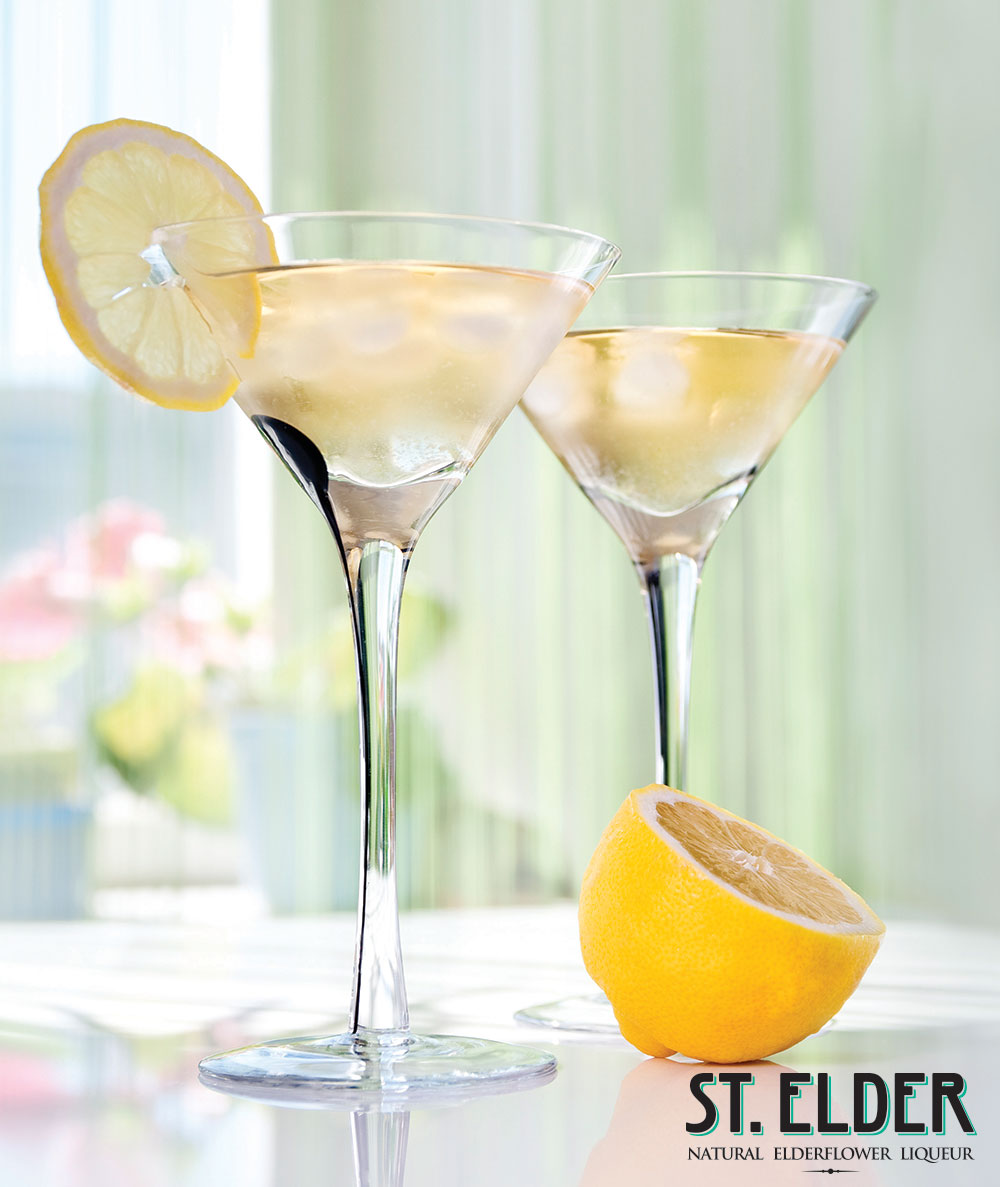 lemon elderflower cocktail