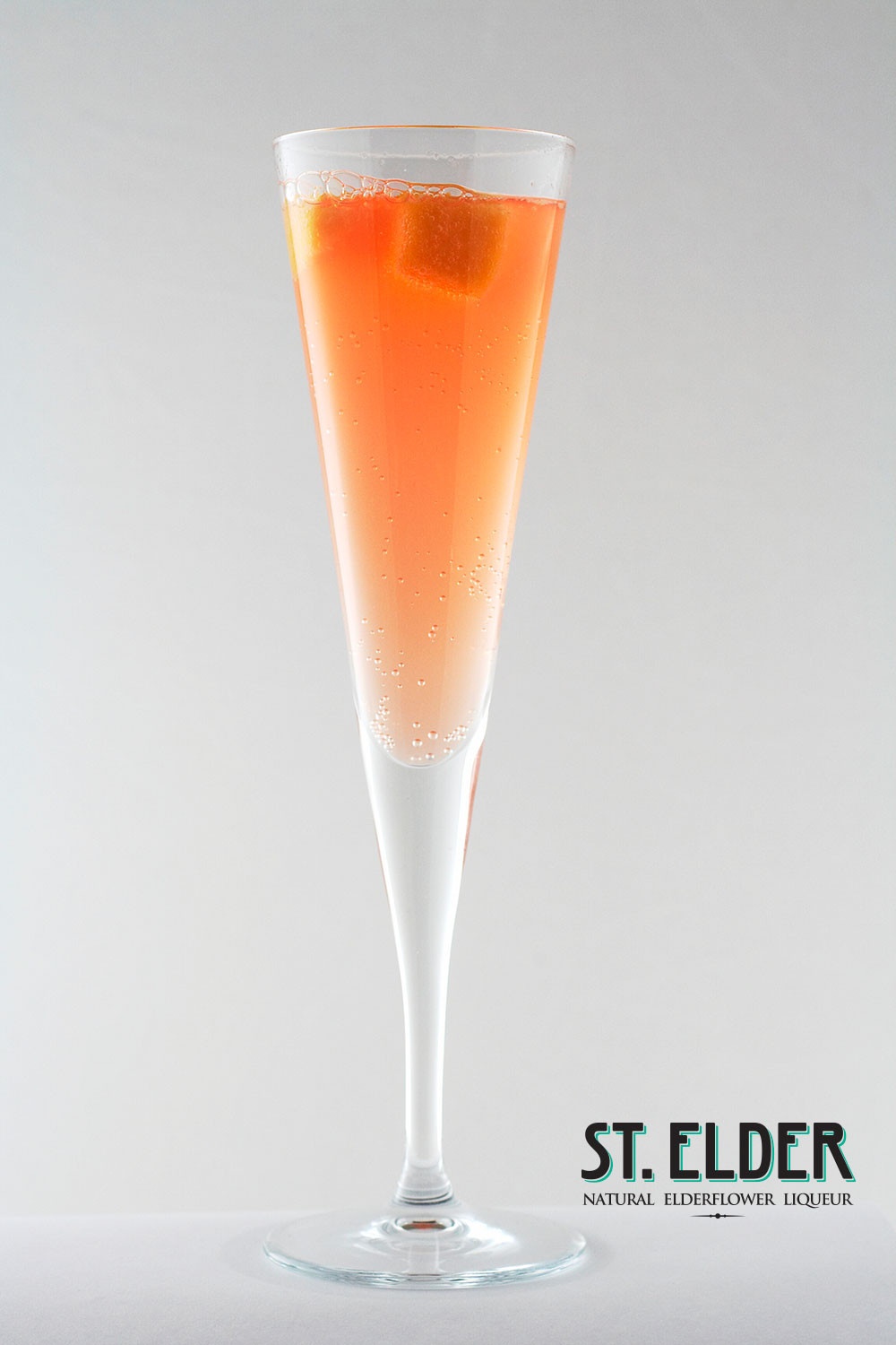 orange sparkling cocktail