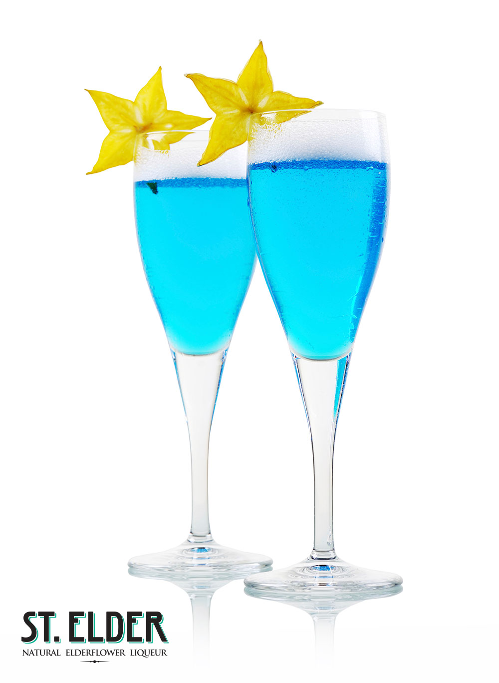 champagne blue cocktail