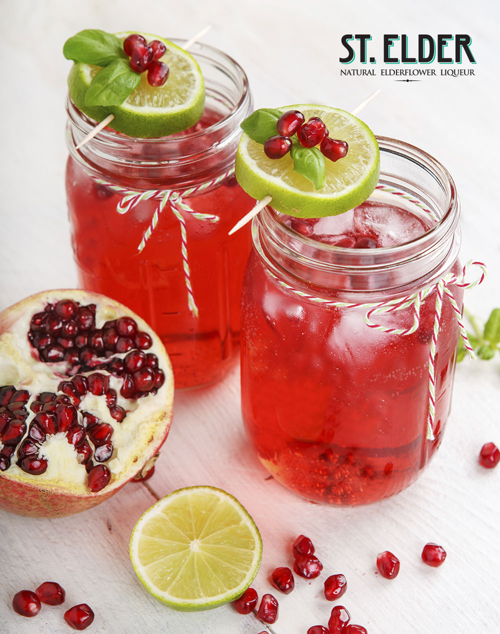 pomegranate lime rickey