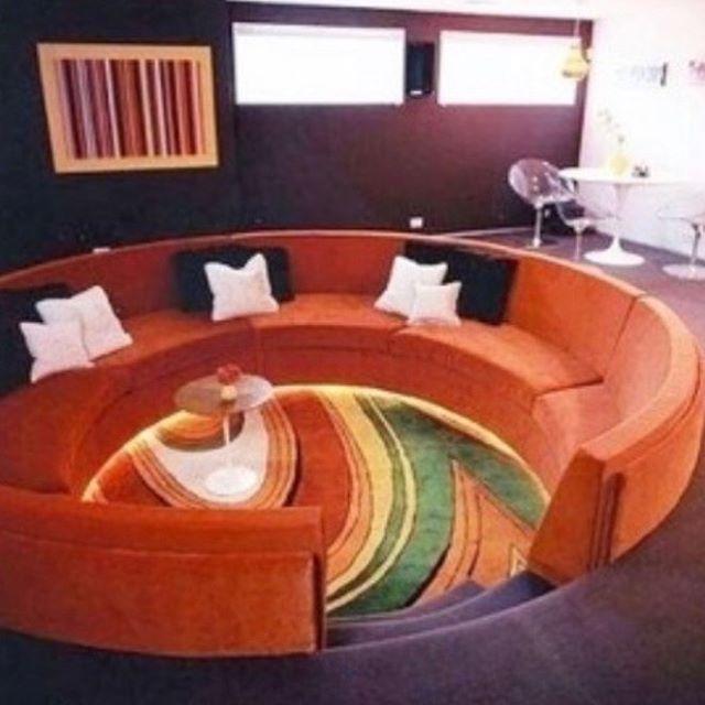So I'm ready to get on board and help bring back the conversation pit / sunken living room. Who's with me? xoy✨ _________________________ #tagthedesigner #70sstyle #conversationpit #sunkenlivingroom #retrodesign #mynextproject #intheworks #luxurydesign #theaterroomdesign #customdesign #ladesigner #groovybaby #xoy✨ #waitforthelavalamp #rockstarstyle #clientgroovymovies #teamwork #yvonnerandolphlifestyle #creativesparks #bringitback