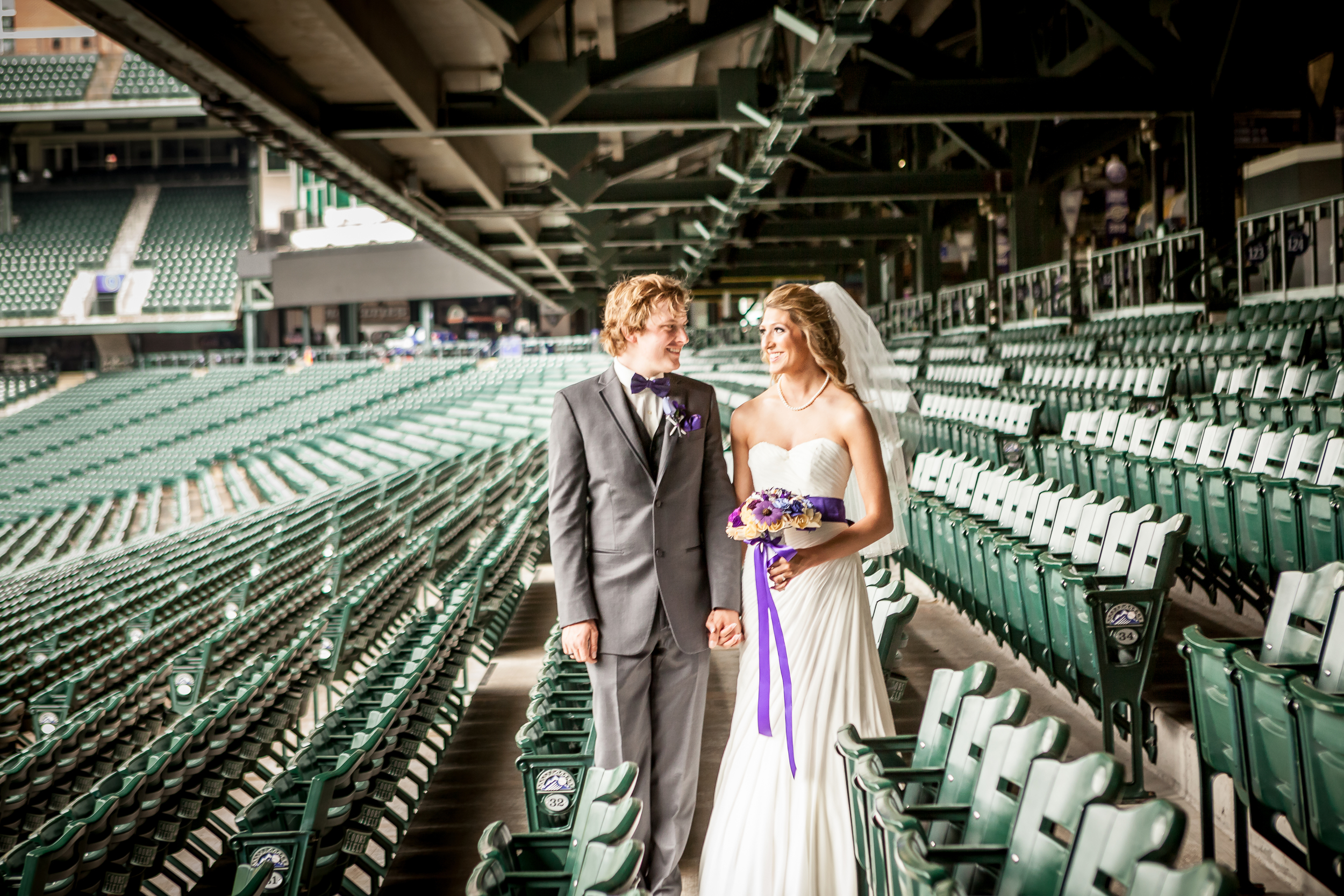 Aren't these two lovebirds just the cutest? From their wedding June 2014 at Coors Field.