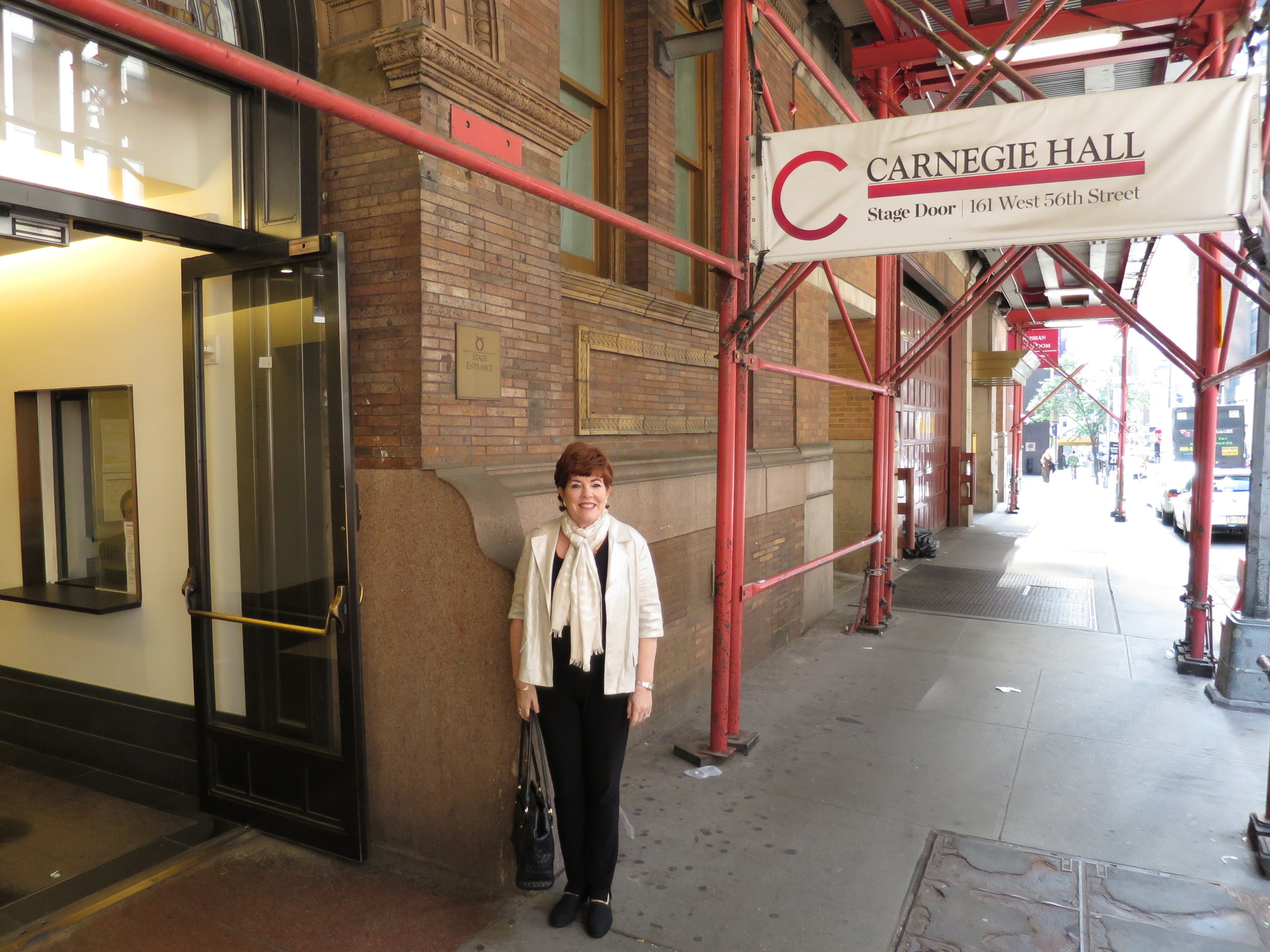 Entering Carnegie Hall for the rehearsal the morning of June 22 2014