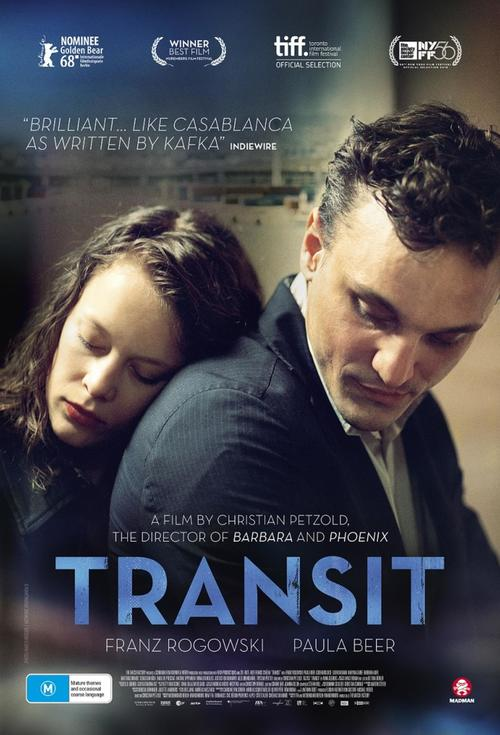 """Set in a present-day Marseille occupied by phantoms from a wartime past, Transit is Christian Petzold's follow-up to his sublime period pieces Barbara and Phoenix. Echoes of Casablanca, Kafka and Hitchcock reverberate around this coolly existential love story, which is also very much its own, unique thing: a haunting daylight noir whose characters, refugees seeking safe passage from a fascist threat, bewitch from the first frame to the last."" — Tim Wong"