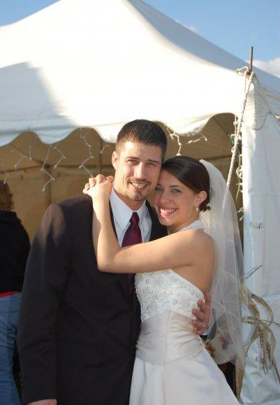My husband and I on our wedding day almost 6 years ago.