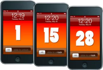 Orange Wallpaper Numbers