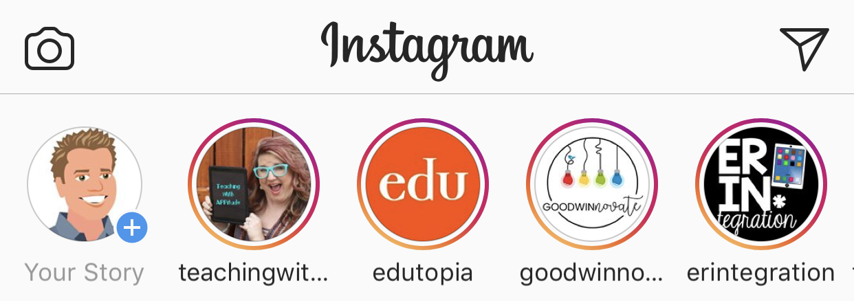Instagram Home Screen with Stories