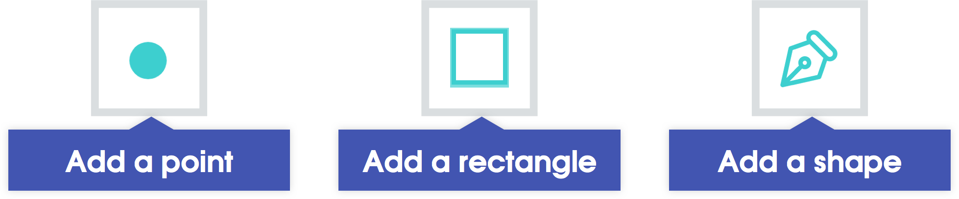 Hotspot Tools: Point, Rectangle, and Shape