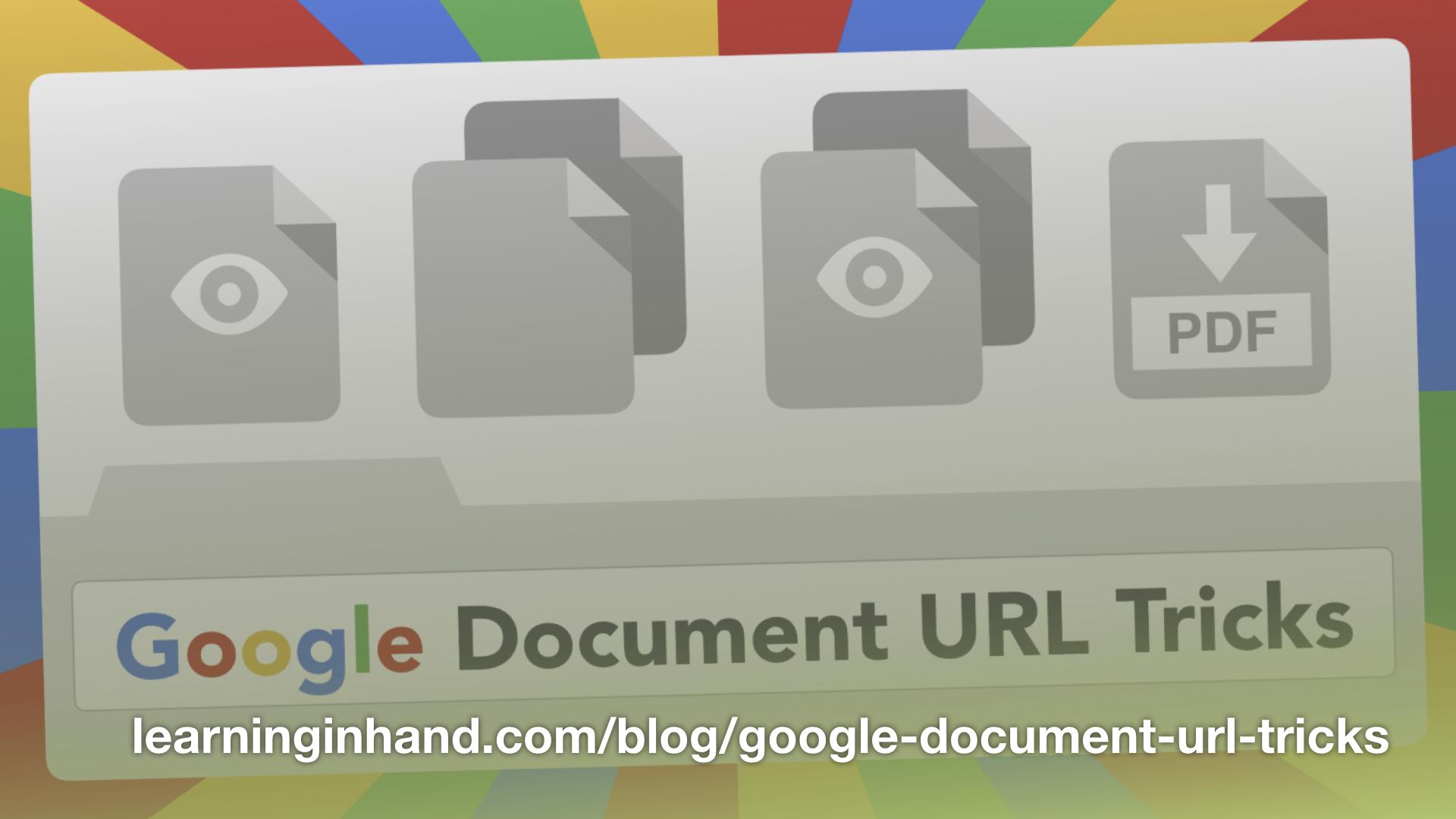 Google Document URL Tricks
