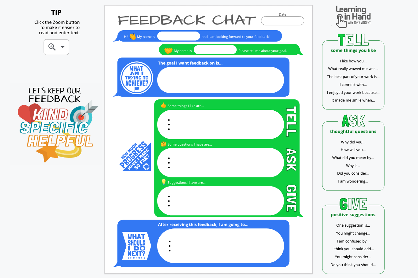 Feedback Chat Digital Version Screenshot