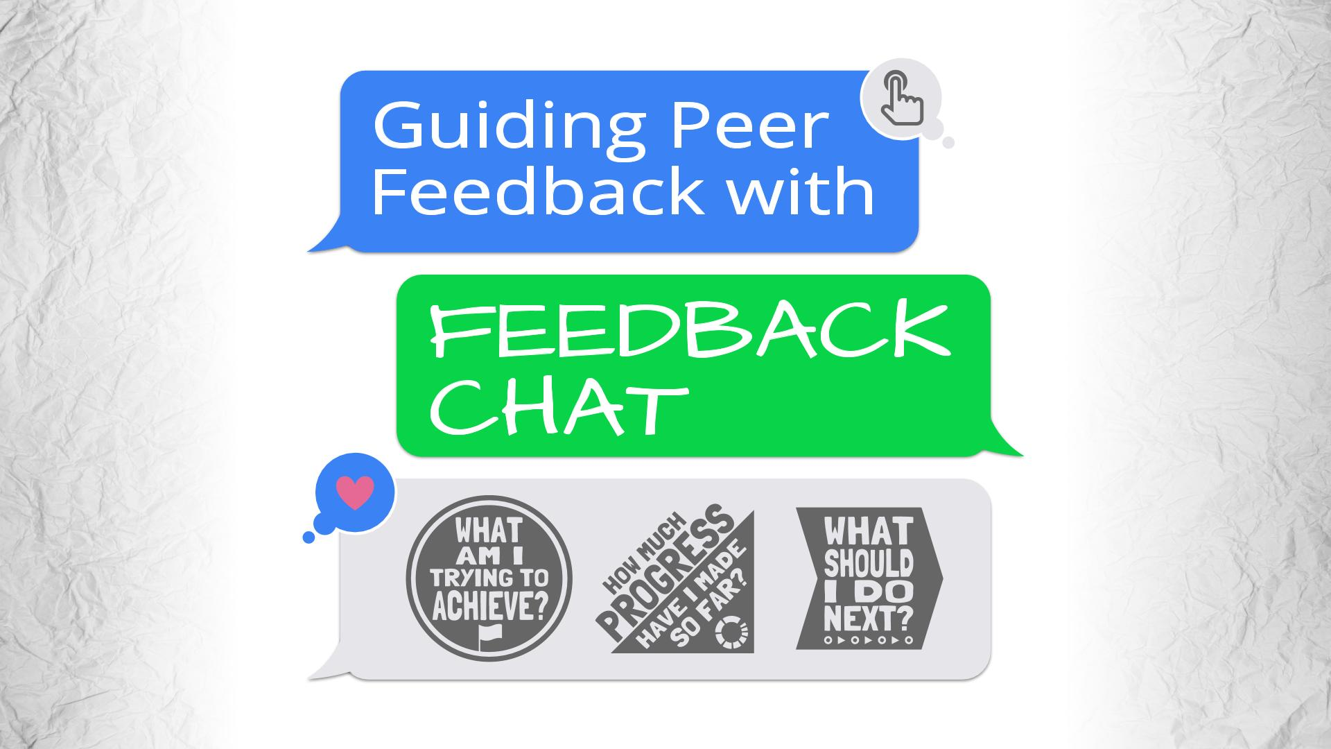 Guiding Peer Feedback with Feedback Chat