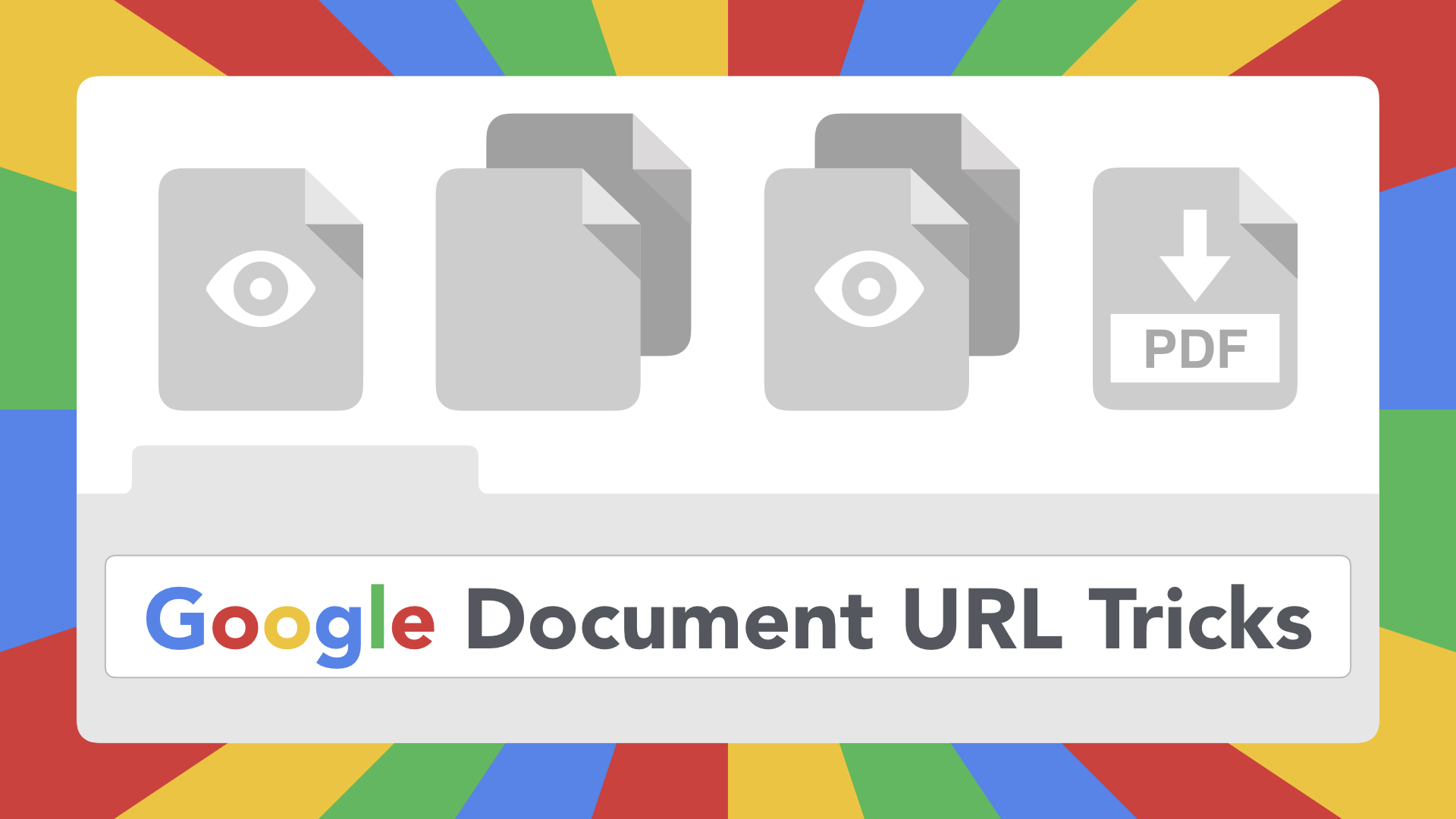 Google Document URL Tricks