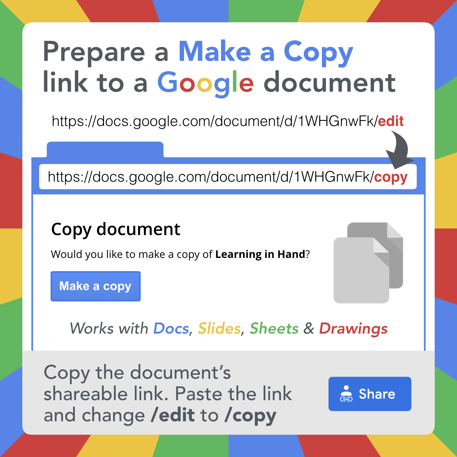 Google Document URL Tricks — Learning in Hand with Tony Vincent