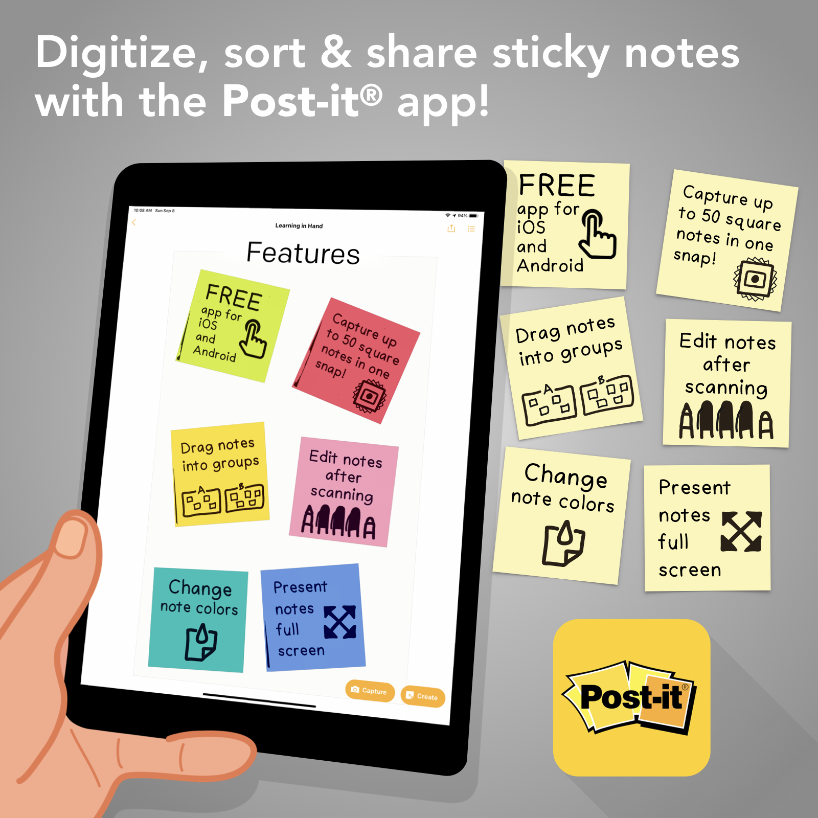 photo relating to Editable Post It Note Template named Print Custom made Sticky Notes with Google Slides Mastering within just
