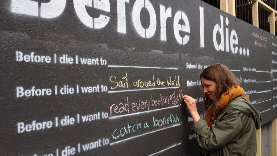 Before I die I want to read every book on my shelf.