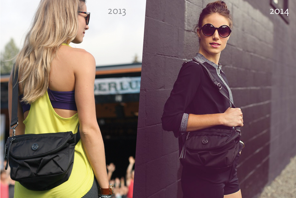 Still got it: two years running, this bag is chic both at festivals  and  on the street | left: photo by Dana Ramler Design, right: photo by  lululemon athletica
