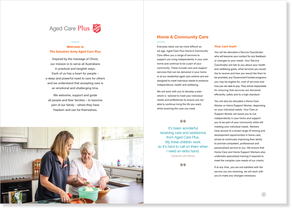 Aged Care Plus – The Salvation Army — Liam Gibbs Design