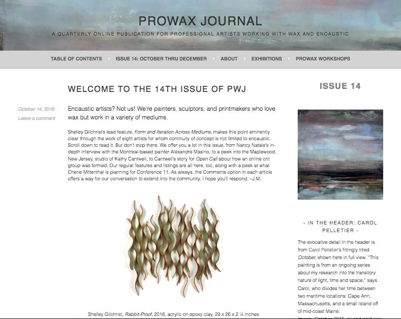 Carol Pelletier Prowax Journal