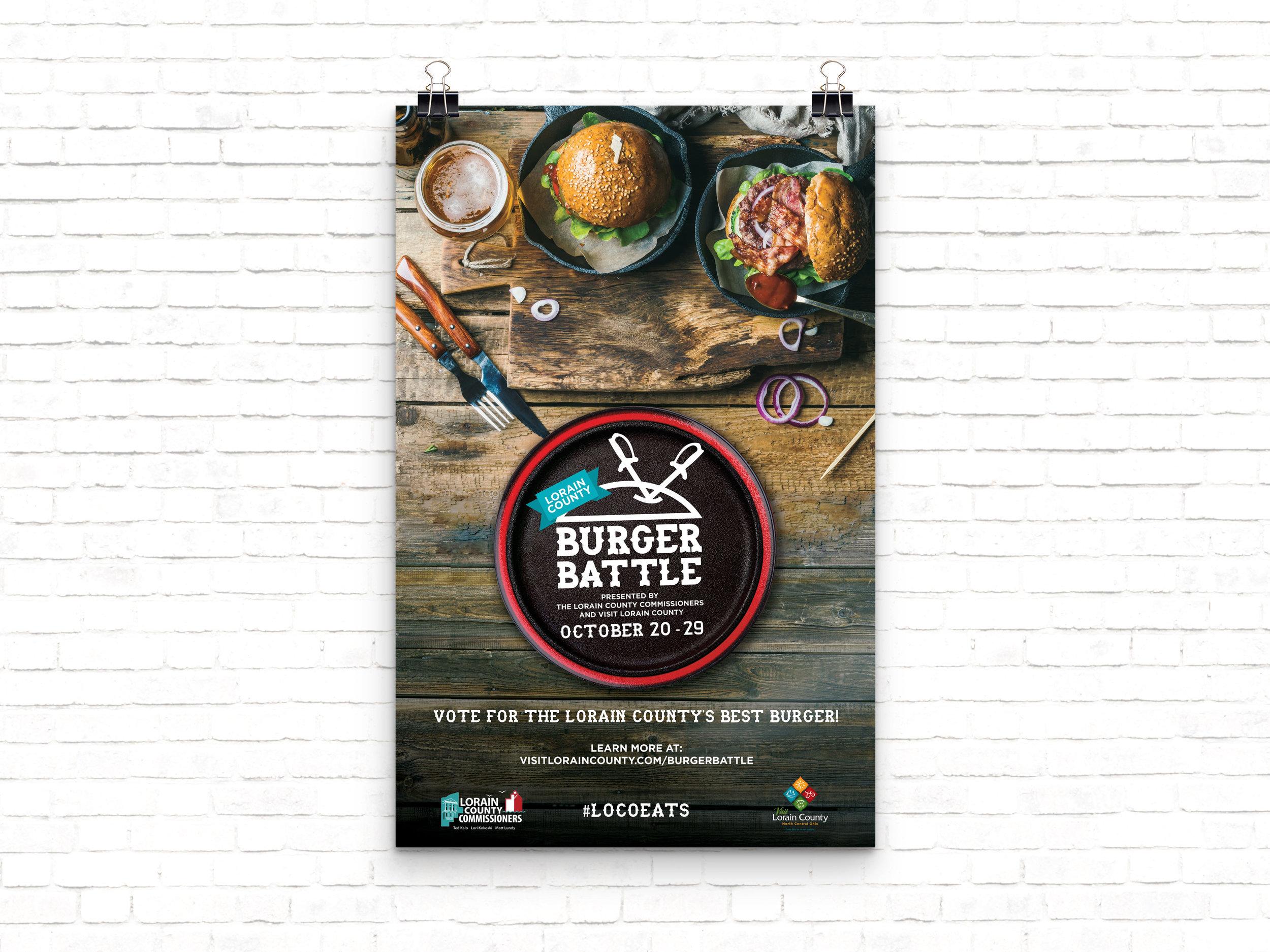 Burger Battle Promotional poster & flyer