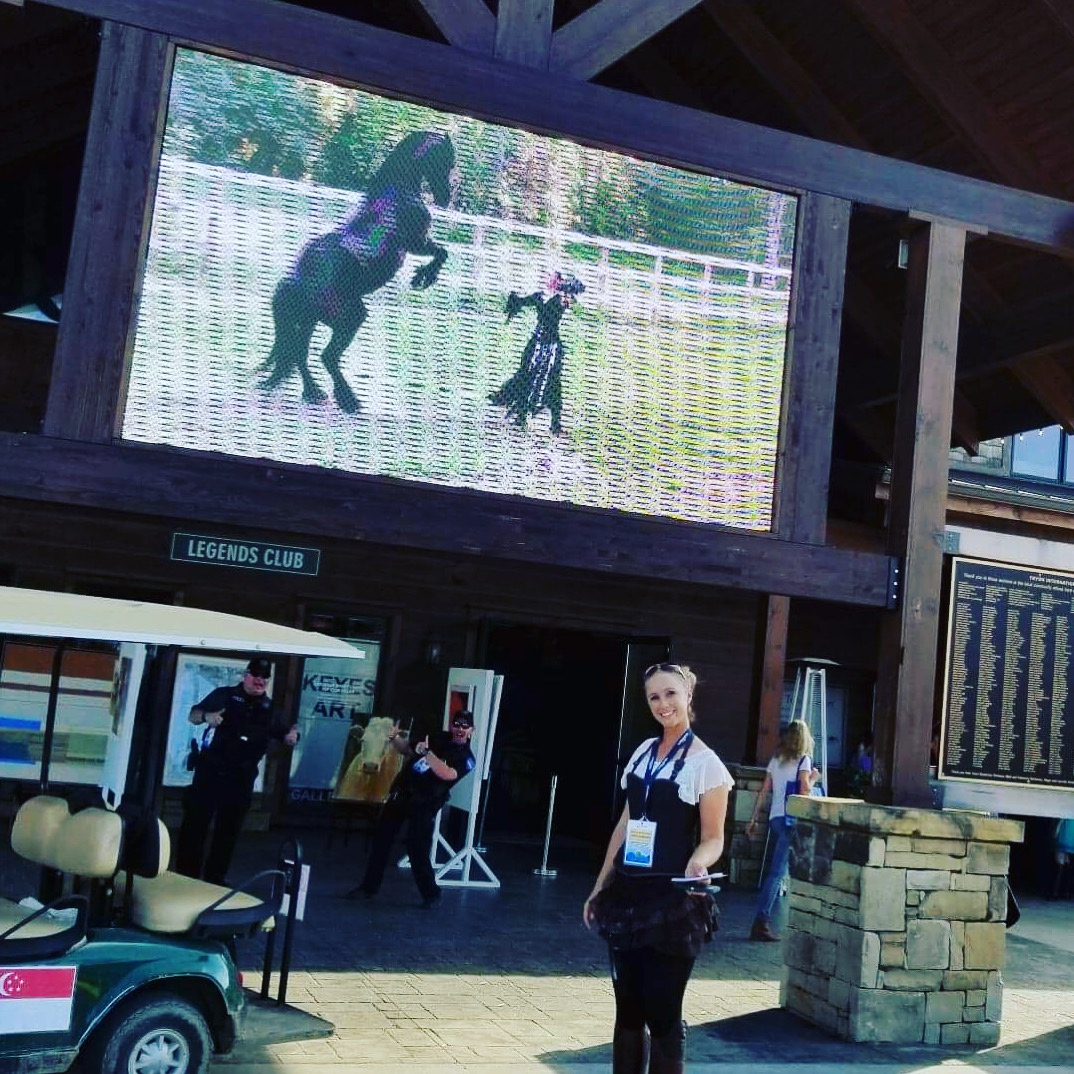 Sandra and Horses on the Big Screen!