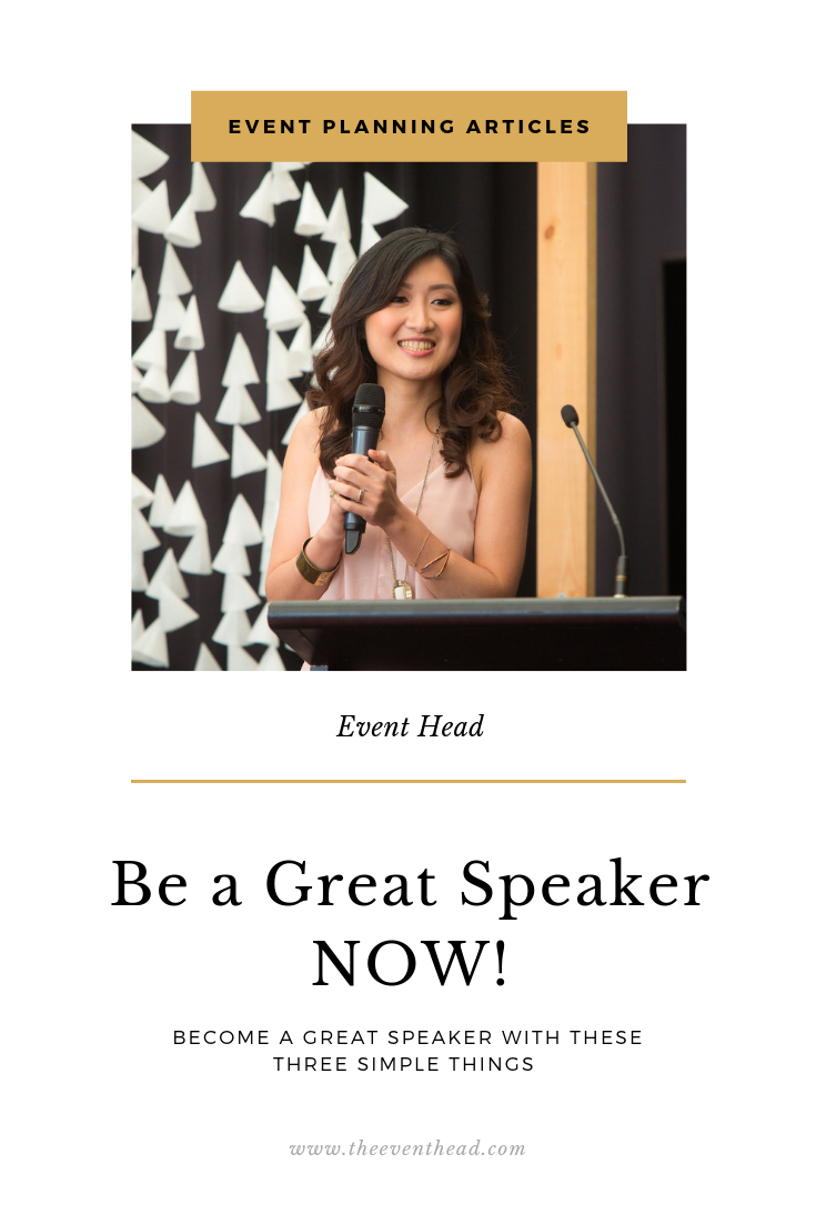 be a great speaker