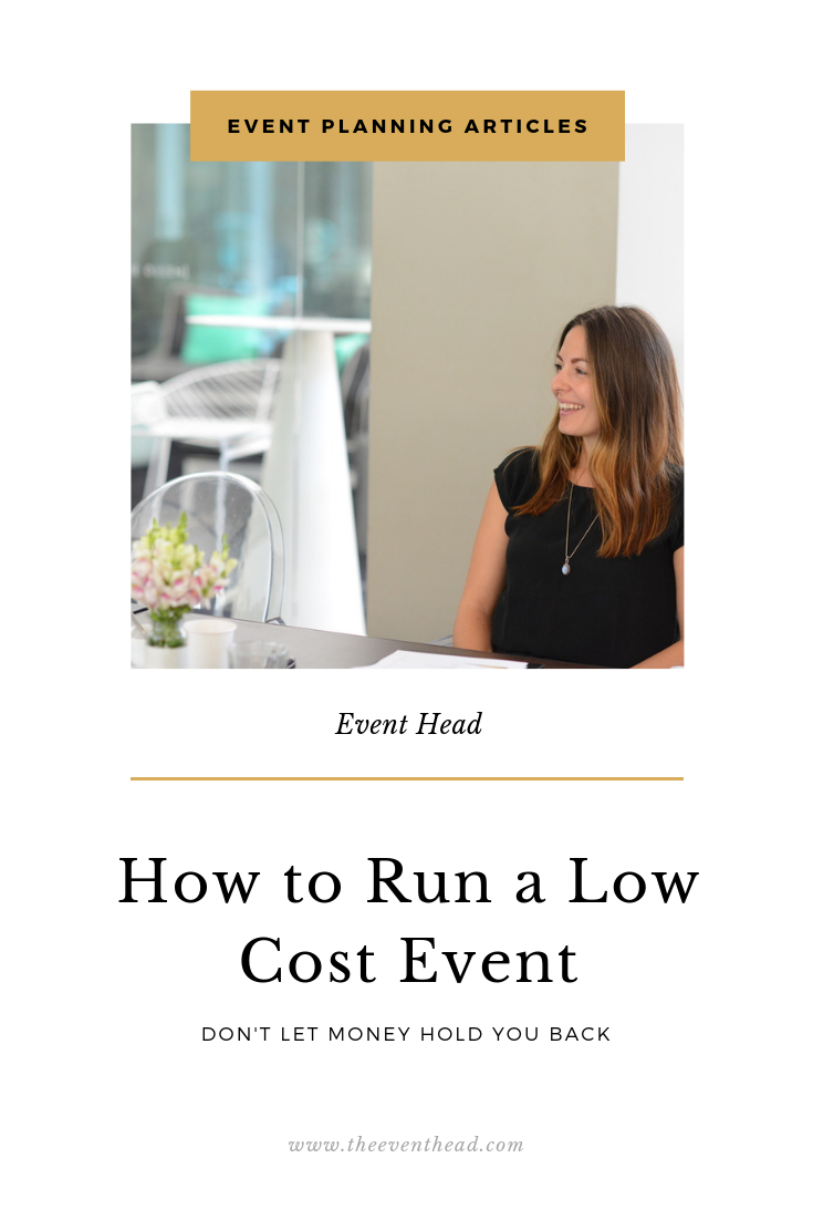 run a low cost event