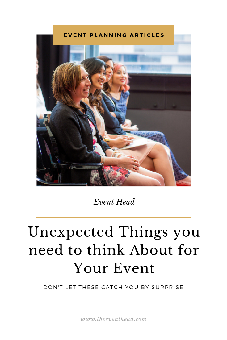 Unexpected things you need to think about for your events