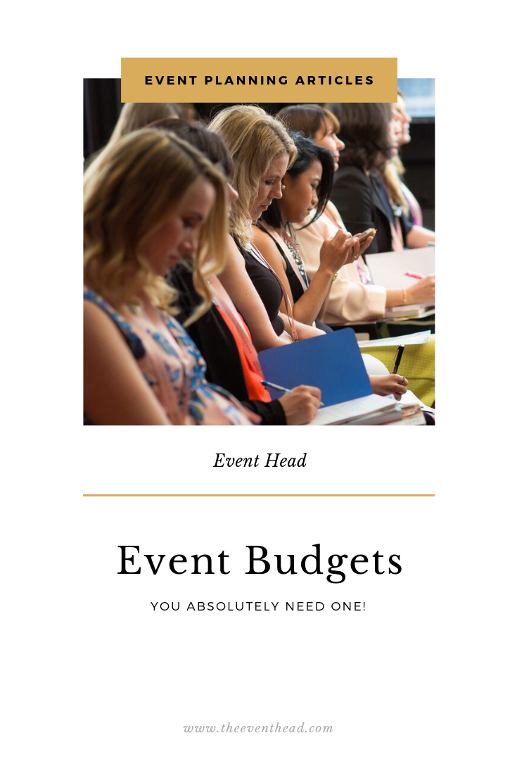 Event Budgets. Yes you need one!