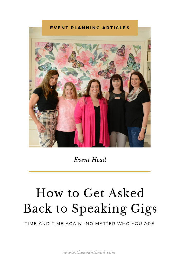 how to get asked back to speaking gigs