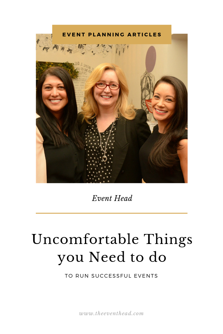 uncomfortable things you need to do to run successful events
