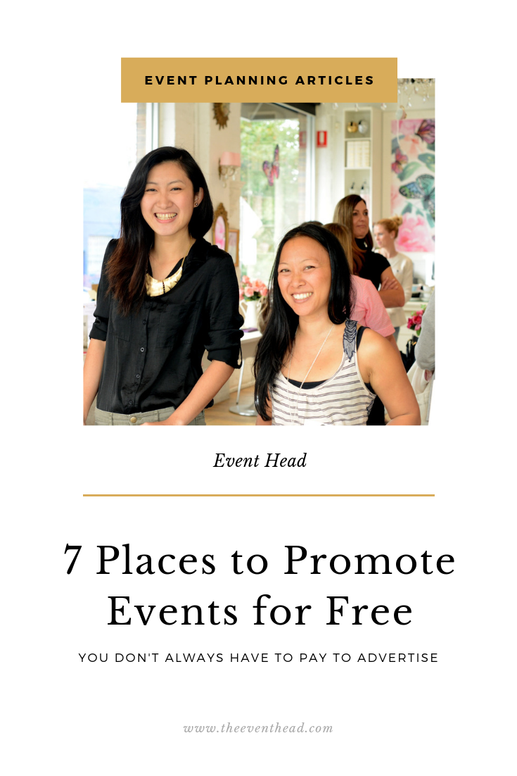 7 Places You Can Promote Your Next Event For Free