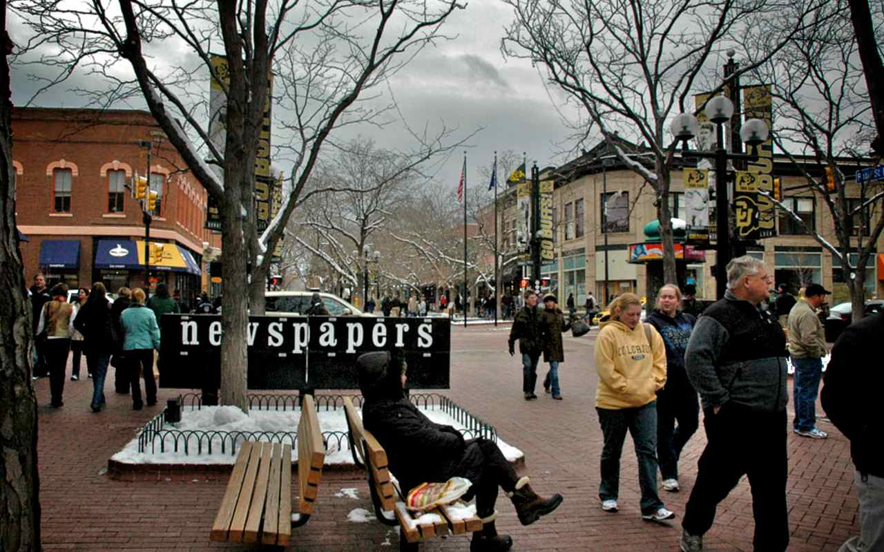 Pearl Street Mall in the Winter of 2012-13
