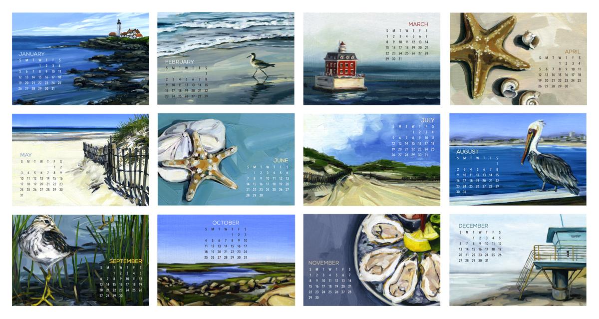 DCC - Desk Calendar Coastal