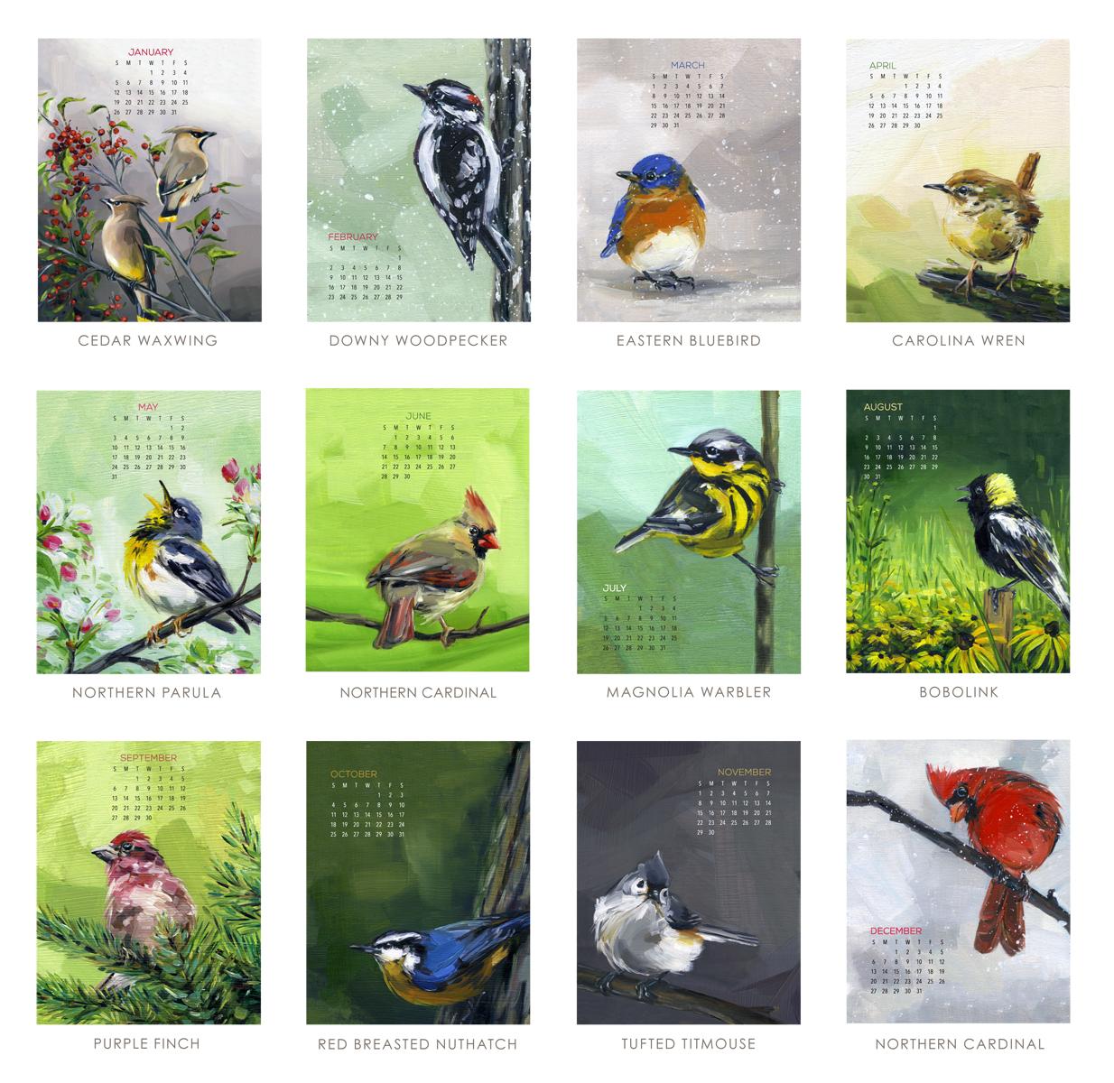 PCB - Poster calendar Bird