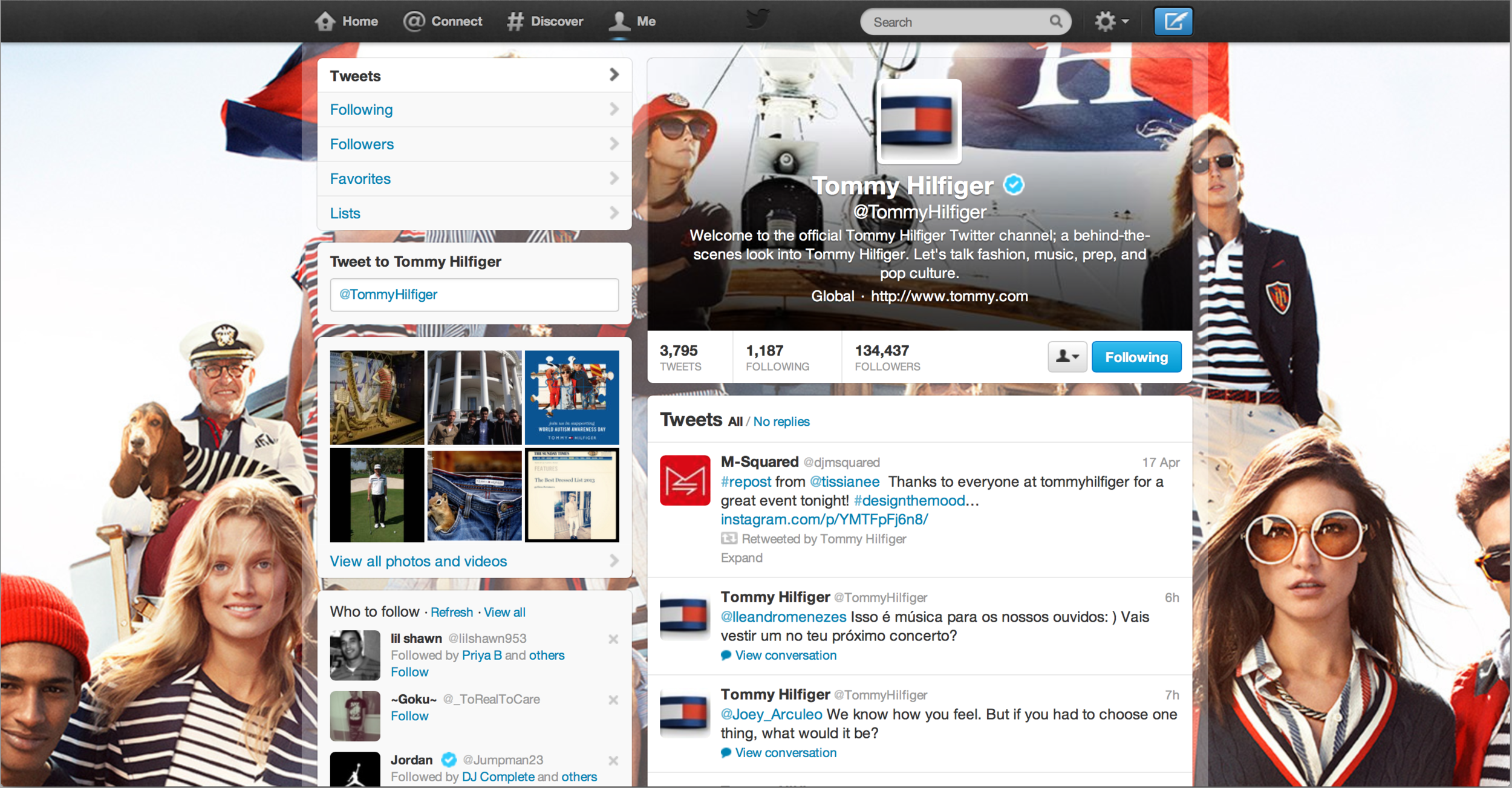 Tommy Hilfiger ReTweets M-Squared on Twitter!