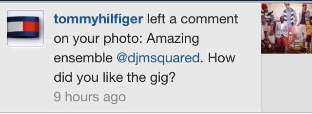 Tommy Hilfiger Mentions M-Squared on Instagram!