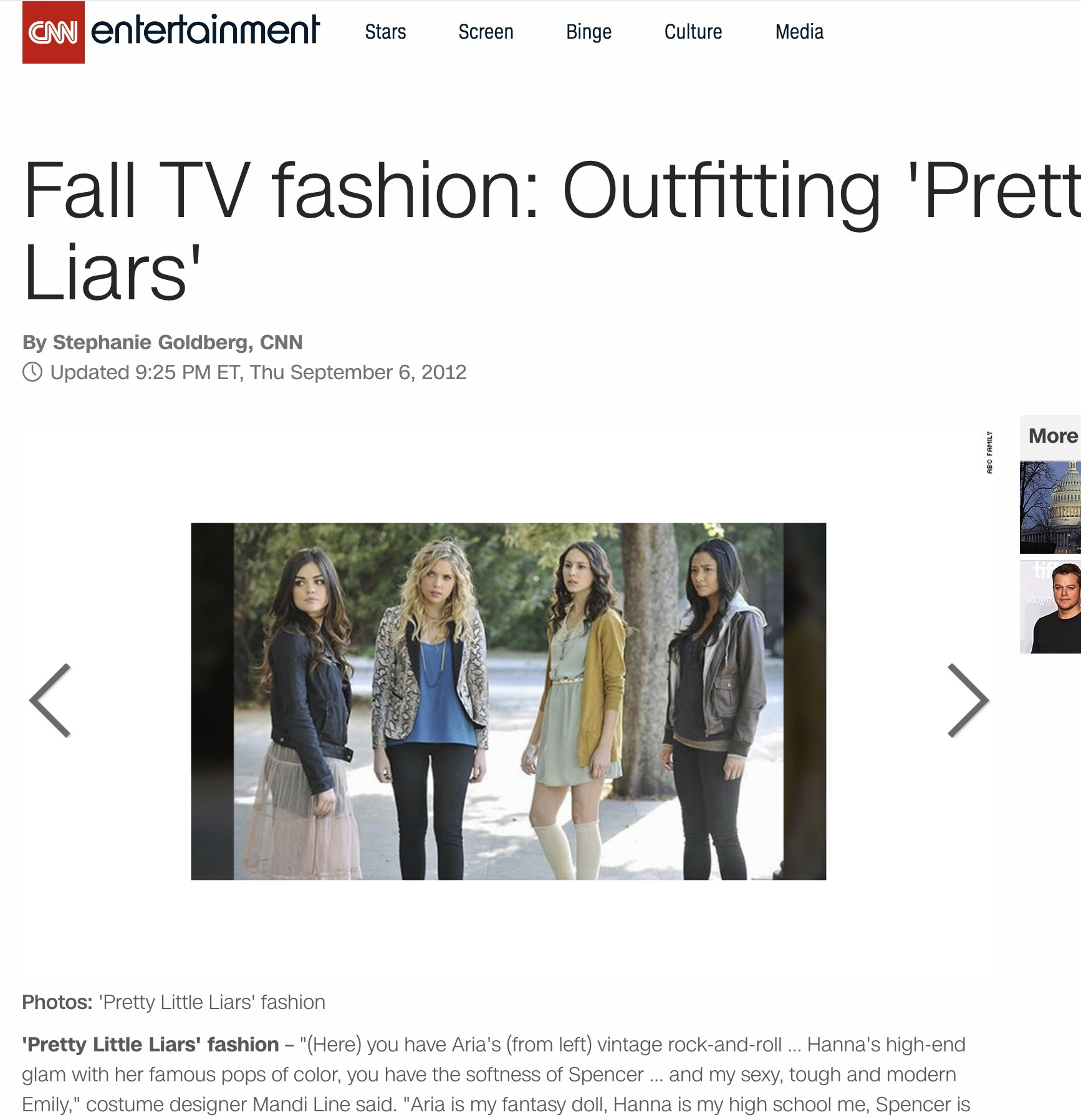CNN Entertainment  -  Fall TV fashion: Outfitting 'Pretty Little Liars'