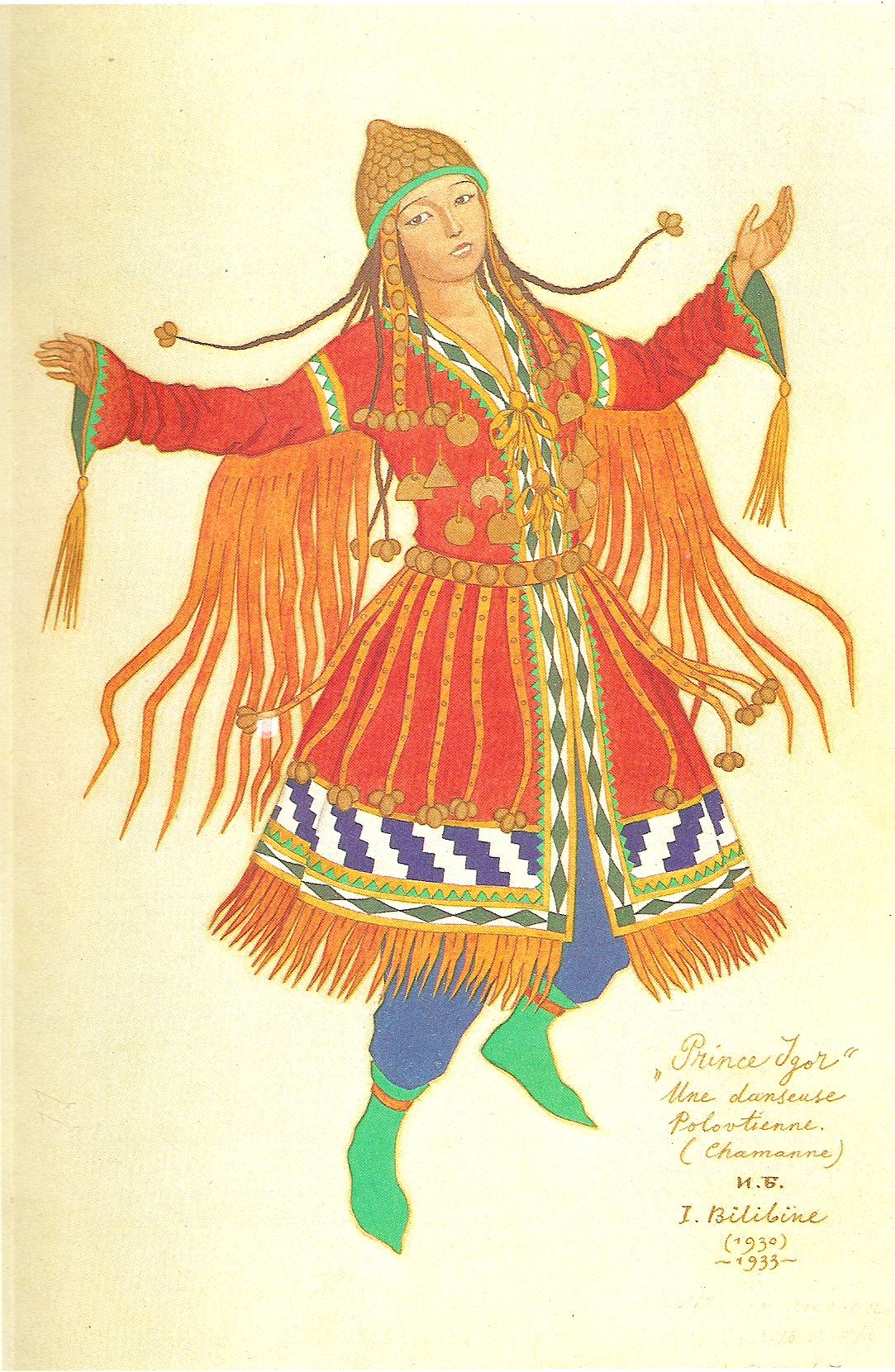 Ivan Bilibine 1930 Dance costume